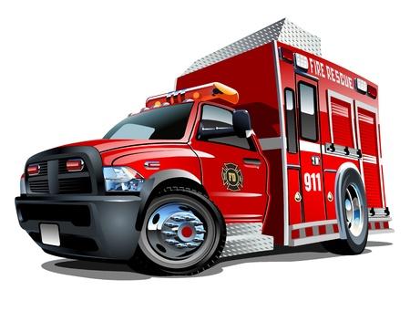 bombero de rojo: Disponible separados por grupos y capas con efectos de transparencia de un solo clic pintar Vectores