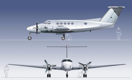 Zivile Nutzflugzeugen Erhältlich von Gruppen und Schichten für die einfache Bearbeitung getrennt Standard-Bild - 20447336