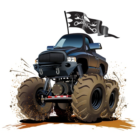 Vector Cartoon Monster truck Available EPS-10 vector format separated by groups and layers for easy edit Vector