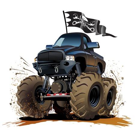 camion caricatura: Vector de dibujos animados Monster truck disponible EPS-10 formato vectorial separó por los grupos y capas para una fácil edición