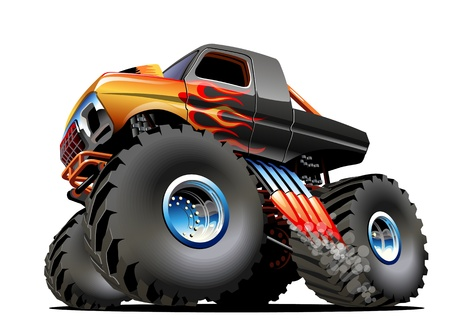 Cartoon Monster Truck.  Vector