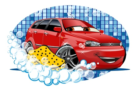 Car Washing. Available EPS-10 vector format separated by groups and layers for easy edit Stock Vector - 20924325