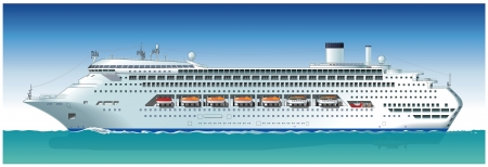 Hi-detailed cruise ship. Available vector format sparated by groups and layers for easy edit