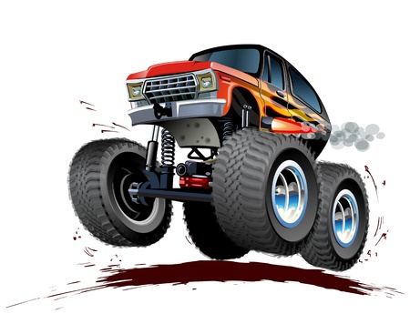 hot rod: Vector Cartoon Monster Truck  Available EPS-10 vector format separated by groups and layers for easy edit