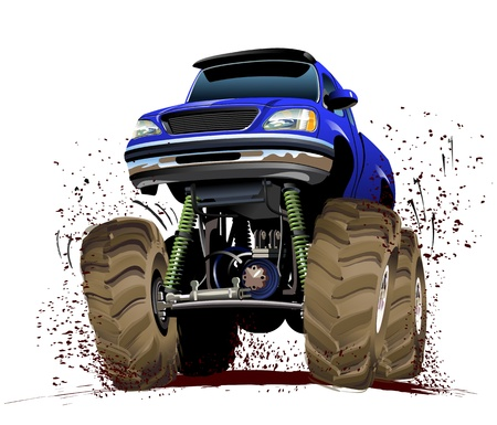 motorsport: Vector Cartoon Monster Truck  Available EPS-10 vector format separated by groups and layers for easy edit
