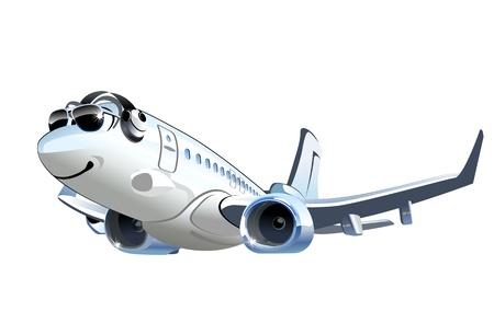 Vector Cartoon Airliner Disponível no formato vetorial EPS-8, separado por grupos e camadas para facilitar a edição Foto de archivo - 21637228