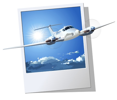 flayer: Vector Civil Airplane  Available EPS-8 vector formats separated by groups and layers for easy edit