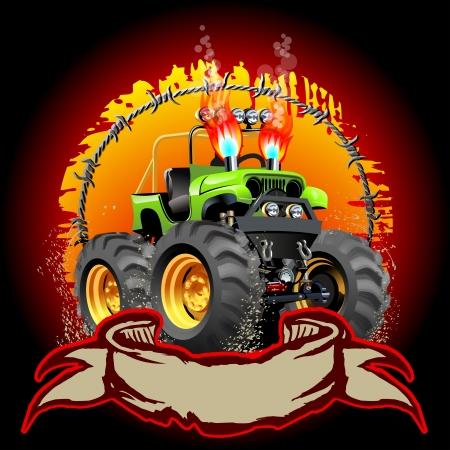 camion pompier: Cartoon Monster Truck Disponible
