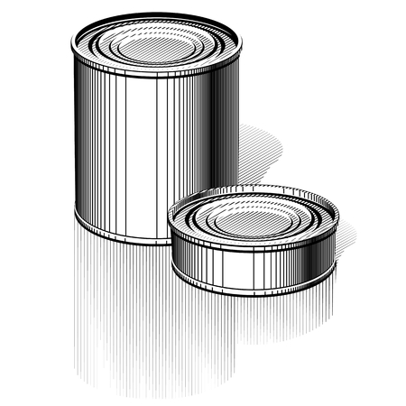 tincan: Vector Tincan set  EPS-8 separated by groups and layers for easy edit