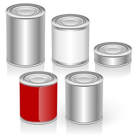 ベクトルの空缶を設定  イラスト・ベクター素材