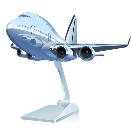 toy plane: Vector Cartoon Airliner.
