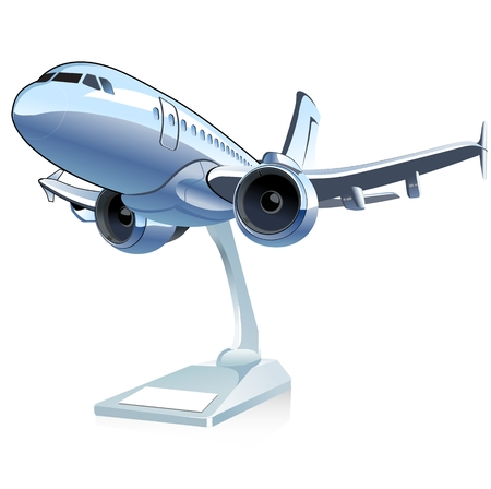 Vector Cartoon Airliner Stock Illustratie