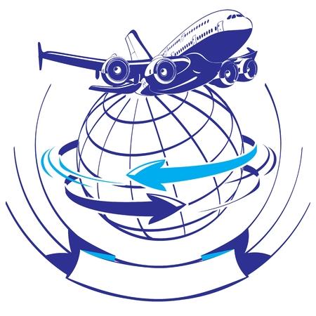 globus: Cartoon airliner