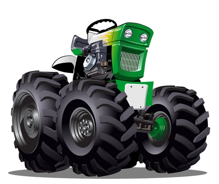 hot rod: Cartoon Tractor illustration  Illustration
