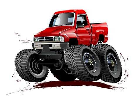 hot wheels: Vector Cartoon Monster Truck  Available EPS-10 vector format separated by groups and layers for easy edit