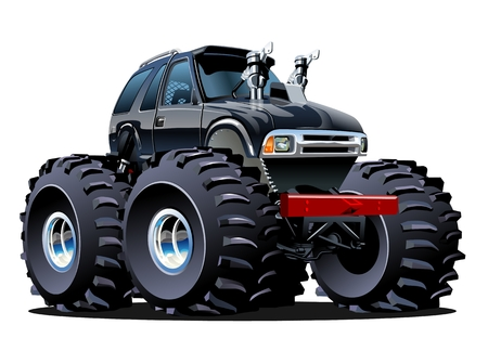 cartoon tractor: Cartoon Monster Truck. Available EPS-10 vector formats separated by groups and layers for easy edit Illustration