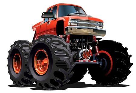 Cartoon Monster Truck. Available EPS-10 vector formats separated by groups and layers for easy edit Stock Illustratie