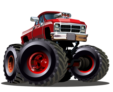 Cartoon Monster Truck. Available EPS-10 vector formats separated by groups and layers for easy edit Vettoriali