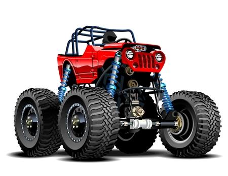 Vector Cartoon Monster Truck. Beschikbare EPS-10 gescheiden door groepen en lagen