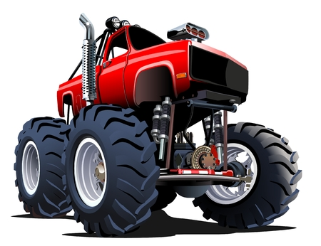 offroad: Cartoon Monster Truck. Available EPS-10 vector formats separated by groups and layers for easy edit Illustration