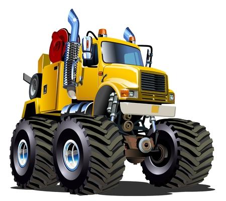 Cartoon Monster Tow Truck 일러스트
