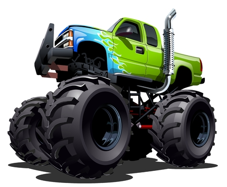 4x4: Cartoon Monster Truck Vectores