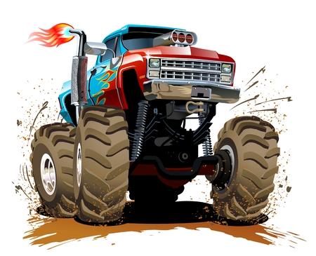 cartoon monster: Cartoon Monster Truck Illustration