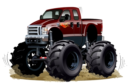 hot wheels: Cartoon Monster Truck Illustration