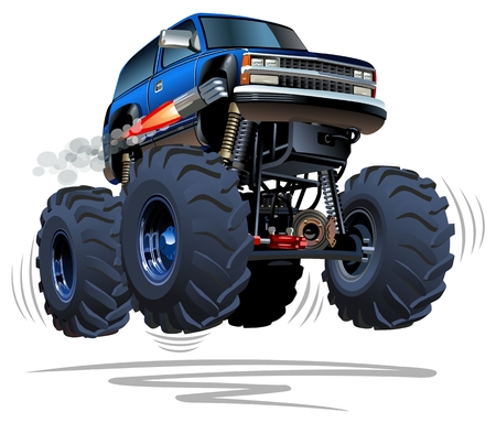 big truck: Cartoon Monster Truck Illustration