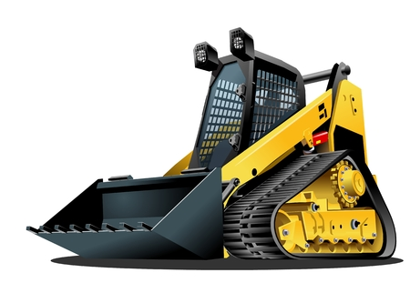 Vector Cartoon Skid Steer