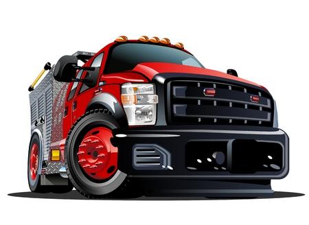 voiture de pompiers: Fire Truck Vector Cartoon