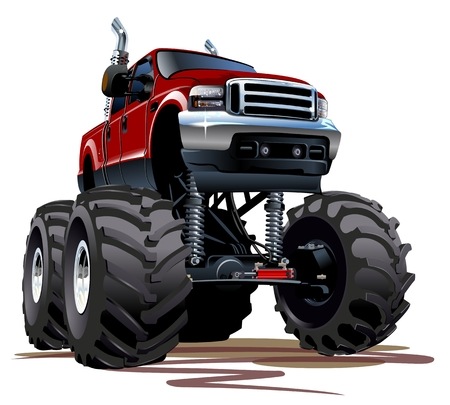 Cartoon Monster Truck Illustration