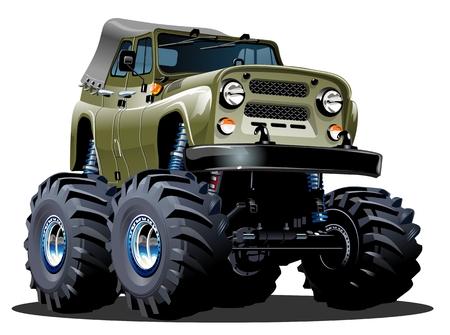 jeep: Cartoon Monster Truck Illustration