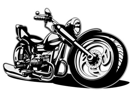 Cartoon Motorbike Illustration