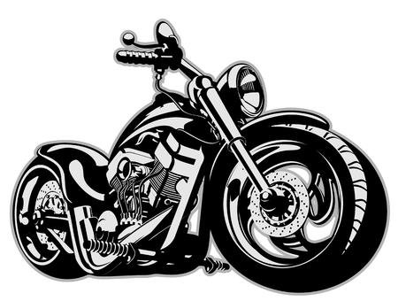 exhaust: Vector Cartoon Motorbike