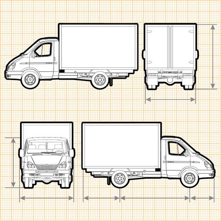 Delivery Cargo Truck Vettoriali
