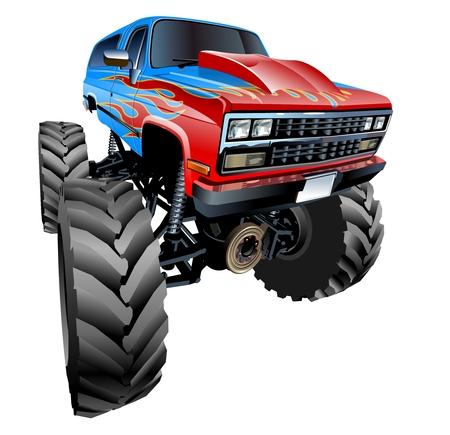 cool off: Cartoon Monster Truck Illustration