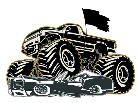 ciężarówka: Monster Truck Cartoon