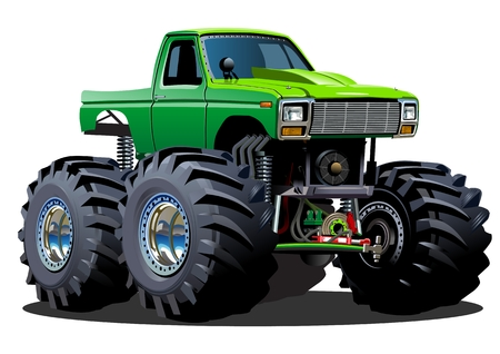 4wd: Cartoon Monster Truck Illustration