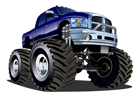 Cartoon Monster Truck Vettoriali