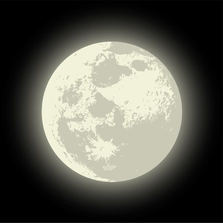 Vector Full Moon Available EPS-10 vector format separated by groups for easy edit