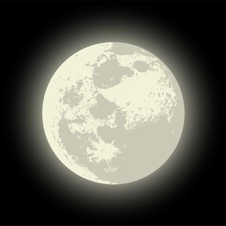 Vector Full Moon Verfügbar EPS-10 Vektor-Format von Gruppen für die einfache Bearbeitung getrennt