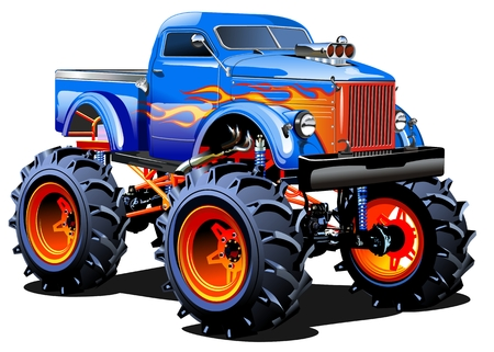 Monster Truck Cartoon Banque d'images - 35816363