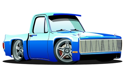 pickup truck: Lowrider Cartoon