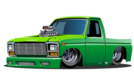 hot rod: Cartoon lowrider Illustration