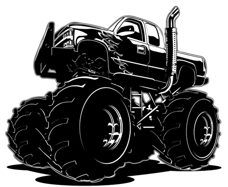 Cartoon Monster Truck Фото со стока - 36176592