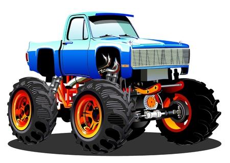 Cartoon Monster Truck Illustration