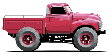 4wd: Cartoon Monster Truck Illustration