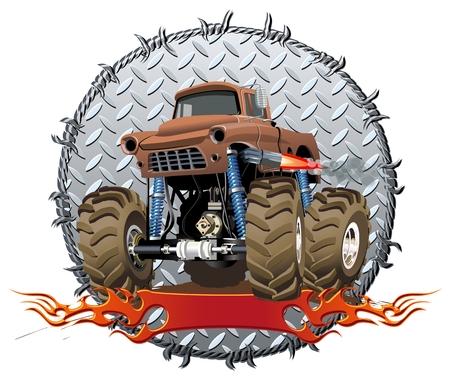 car show: Cartoon Monster Truck Illustration