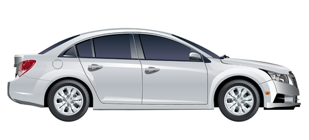 sedan: car Illustration